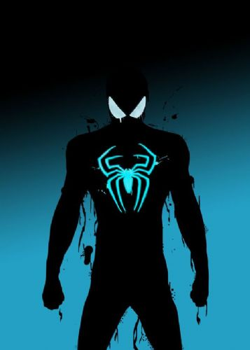 SPIDER MAN - BLUE GLOW canvas print - self adhesive poster - photo print